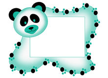 Photo frame with panda. Color illustration of a tender frame with panda Stock Photography