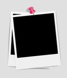 Photo frame on paper background Royalty Free Stock Photo