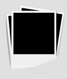 Photo frame on paper background Royalty Free Stock Images