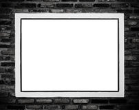 Photo frame in the partition. Back and white : photo frame in the partition Royalty Free Stock Photography