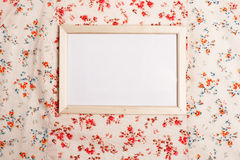Photo frame on pattern Stock Images