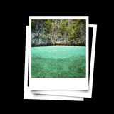 Photo frame of Phuket island sea isolated Stock Photography