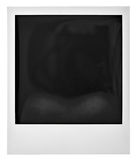Photo frame polaroid  on white Royalty Free Stock Photography
