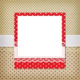 Photo frame on polka Royalty Free Stock Photos