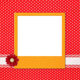 Photo frame on polka Stock Images