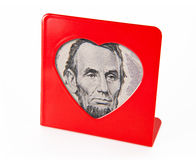 Photo frame with the portrait of Abraham Lincoln Royalty Free Stock Photos