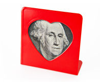 Photo frame with the portrait of George Washington Royalty Free Stock Photo