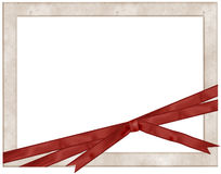 Photo Frame with red ribbon Royalty Free Stock Photo