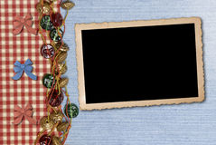 Photo frame on retro background Stock Photos