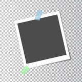 Photo frame retro with shadow on sticky tape Royalty Free Stock Image