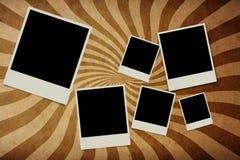 Photo frame on retro wall Royalty Free Stock Photos