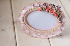 Photo frame in a romantic vintage style Stock Photos