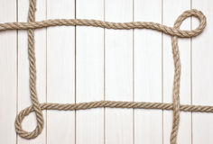Photo Frame from the rope Stock Photos