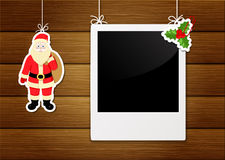 Photo frame and santa claus Stock Photo