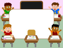 Photo Frame - School [1]. Photo frame, post card or page for your scrapbook. Subject: Kids in a classroom at school Stock Photos
