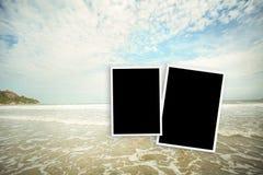 Photo frame at sea hua hin in Thailand Stock Images