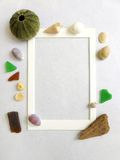 Photo frame, sea shore beach theme Royalty Free Stock Photo
