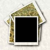 Photo frame and sea waves Royalty Free Stock Photo
