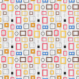 Photo frame seamless pattern vector. Royalty Free Stock Image