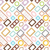 Photo frame seamless pattern vector. Stock Photography