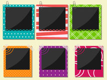 Photo frame set Royalty Free Stock Image