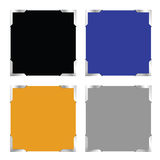Photo frame set color vector Royalty Free Stock Image