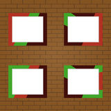 Photo Frame. Set of photo frames on the brick wall background. Flat design, vector vector illustration