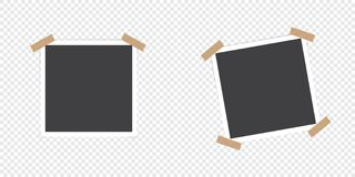 Photo frame with shadow. Set of photo frame. Isolated object on transparent background. Vector illustration. vector illustration