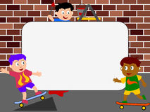 Photo Frame - Skateboard. Photo frame, post card or page for your scrapbook. Subject: skateboard Royalty Free Stock Image