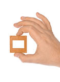 Photo frame for slide in hand Royalty Free Stock Photo