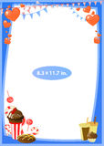 Photo frame. Standard photo size in inches. Vector Royalty Free Stock Images
