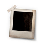 Photo frame stick on white Stock Images