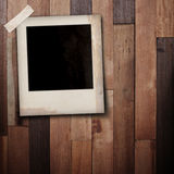 Photo frame stick on wood Royalty Free Stock Image