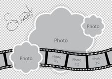 Photo frame for sweet baby and family album. Vector illustration Stock Photography