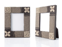 Photo-frame on table Royalty Free Stock Photography