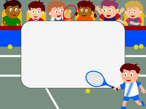 Photo Frame - Tennis. Photo frame, post card or page for your scrapbook. Subject: tennis Royalty Free Stock Image