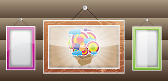 Photo frame vector Royalty Free Stock Images