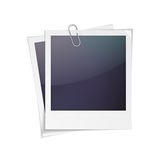 Photo frame. Vector illustration of polaroid photo frame isolated on white background Stock Image
