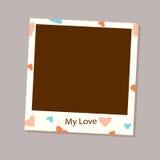 Photo frame vector for love stock illustration