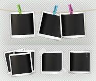 Photo frame vector set Stock Photos