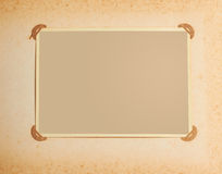 Photo frame in vintage album Stock Images