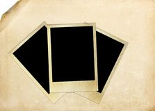 Photo frame on vintage paper Royalty Free Stock Images
