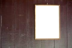 Photo frame on vintage wooden texture Royalty Free Stock Photos