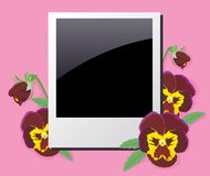 Photo frame in the violets Royalty Free Stock Images