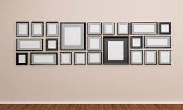 Photo frame on the wall. Give you some idea for your art work Stock Photo