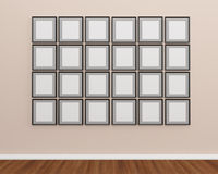Photo frame on the wall. Give you some idea for your art work Royalty Free Stock Images
