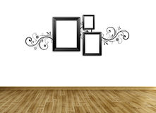 Photo frame on wall Royalty Free Stock Photos