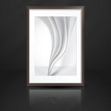 Photo Frame On The Wall Stock Image