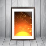 Photo Frame On The Wall Royalty Free Stock Photography