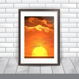 Photo Frame On The Wall Stock Photography